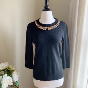 Kate Spade Avaline Black Sweater Medium